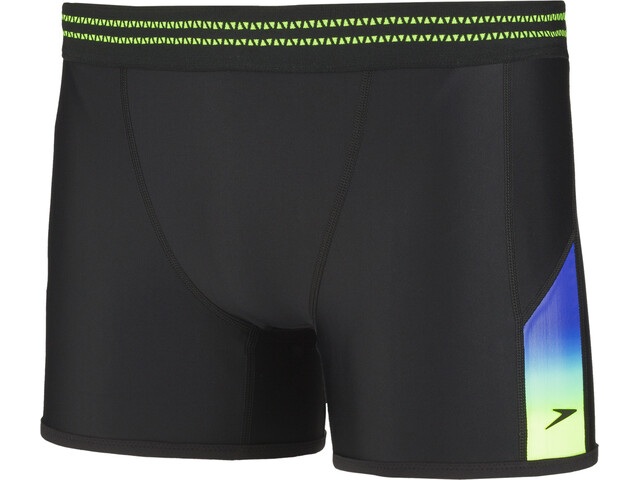 speedo Hydrosense Panel Aqua Shorts Heren, black/green